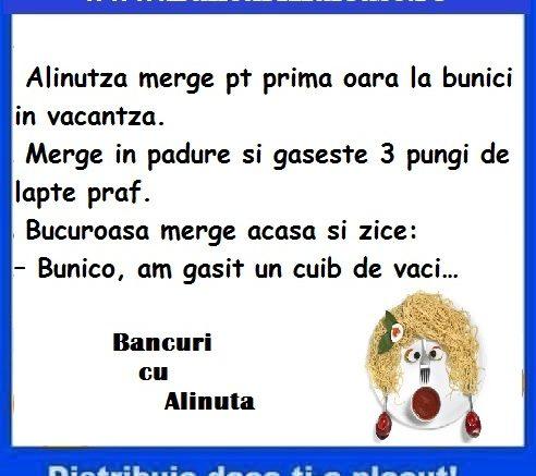 Banc cu Alinuta si laptele praf, bancuri cu Alinuta 2019, Banc cu Alinuta, Alinuta si laptele praf, bancuri cu Alinuta, Alinuta 2019, Banc Alinuta, banc cu laptele praf, bancuri Alinuta, banc cu Alinuta 2019, banc Alinuta 2019, bancuri Alinuta 2019,