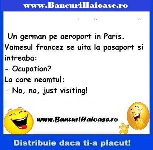 Banc cu francezi si ocupatia, banc francezi si germani 2020, Banc cu francezi, francezi si ocupatia, banc francezi si germani, bancuri 2020,